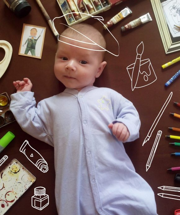 Bébé art plastique
